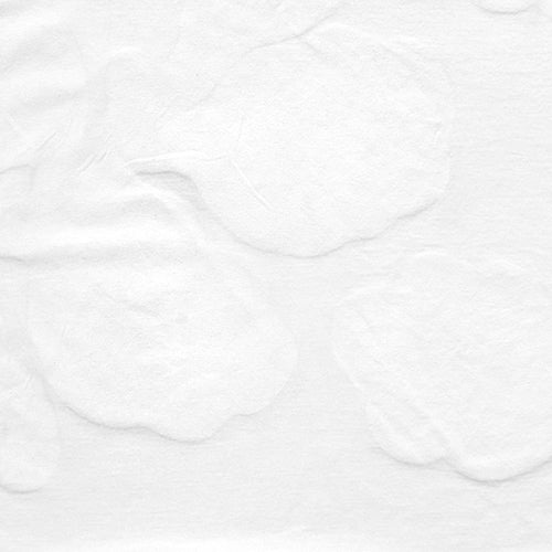 Alabama Chanin hand-painted Leaves in lightweight organic cotton jersey fabric in white for Summer of Color
