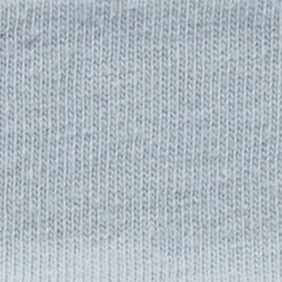 100% Organic Cotton Jersey in Baby Blue on Baby Blue Embroidery