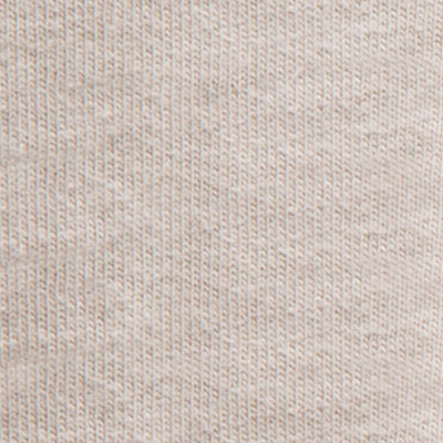 Organic Cotton Jersey in Sand on Sand Embroidery