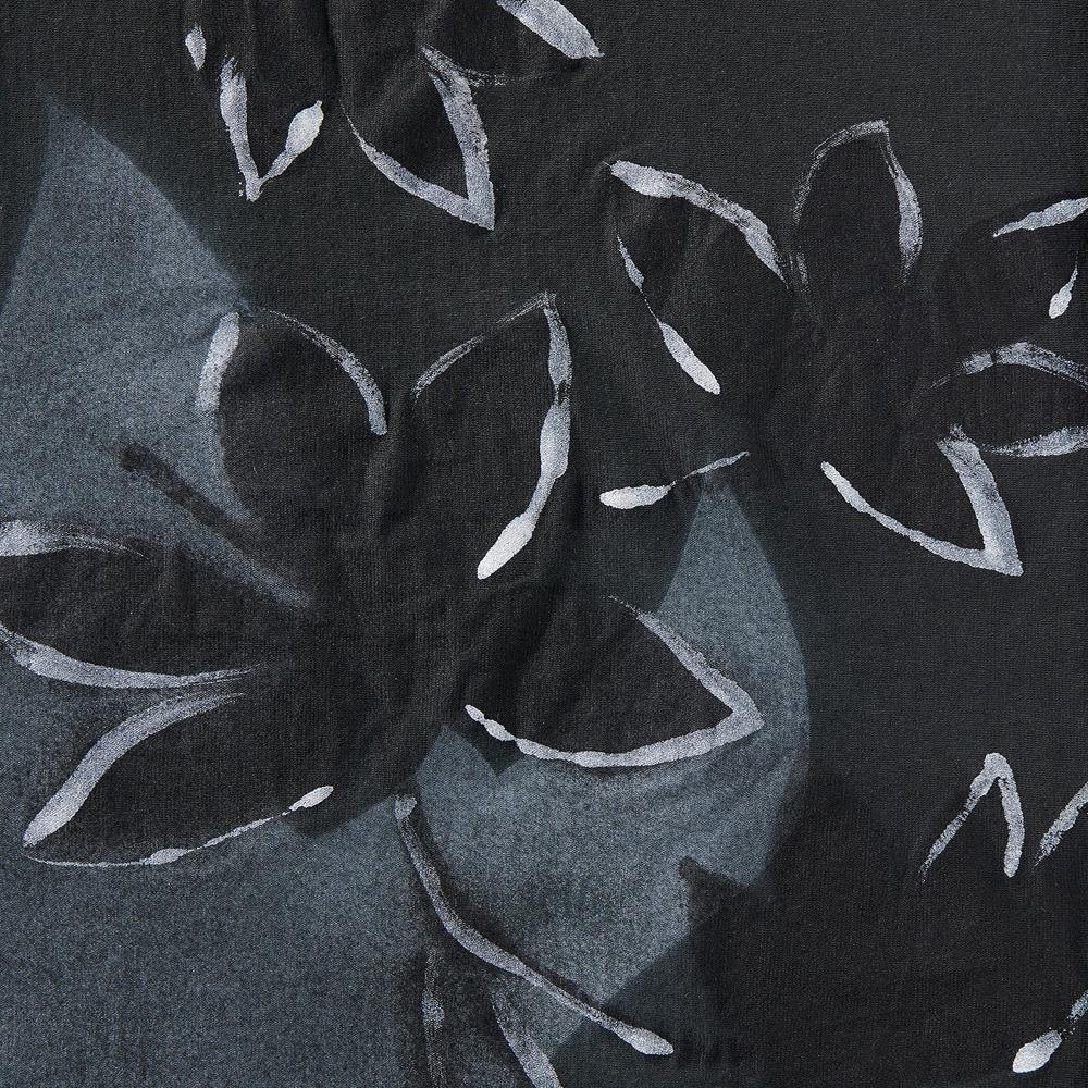 100% Organic Cotton Jersey in Black with hand-painted Florence design