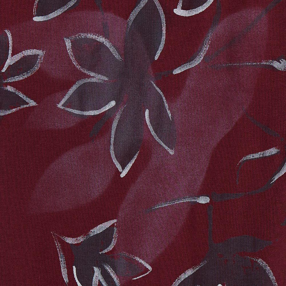 100% Organic Cotton Jersey in Plum with hand-painted Florence design