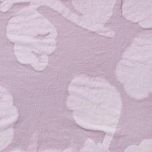 Alabama Chanin 100% Organic Cotton Hand-Painted with Leaf Print in Lilac
