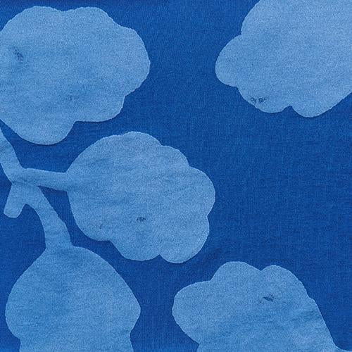 Alabama Chanin 100% Organic Cotton Hand-Painted with Leaf Print in Venetian