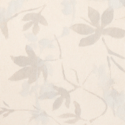 100% Organic Cotton Natural Waffle Fabric Painted in Flora