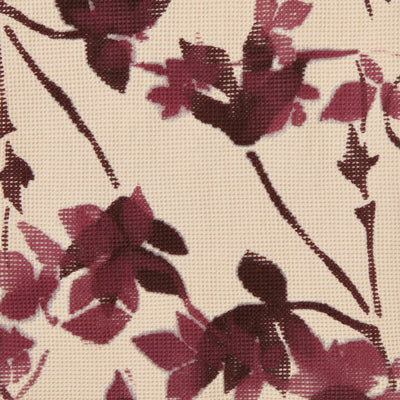 100% Organic Cotton Wax Waffle Fabric Painted in Flora