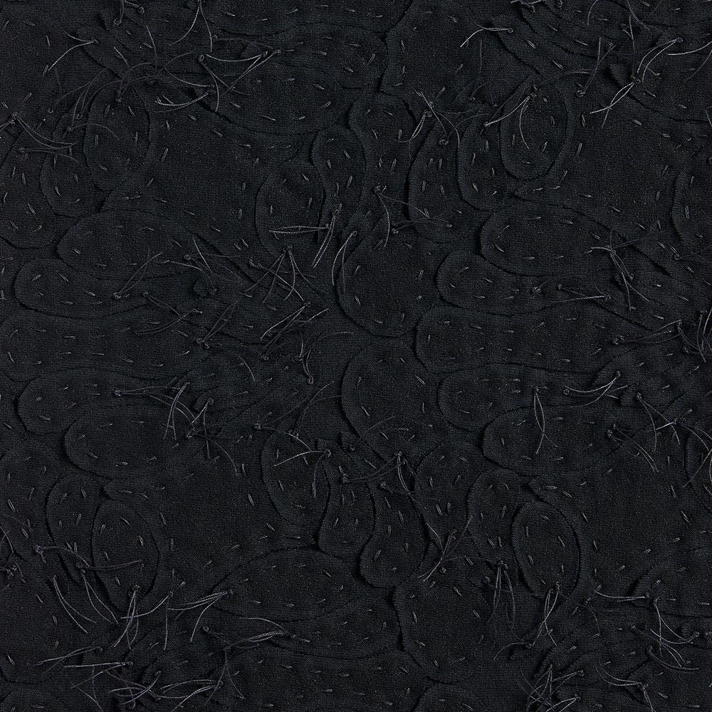 Alabama Chanin 100% Organic Cotton in Black/Black with Hand-sewn Lace Applique