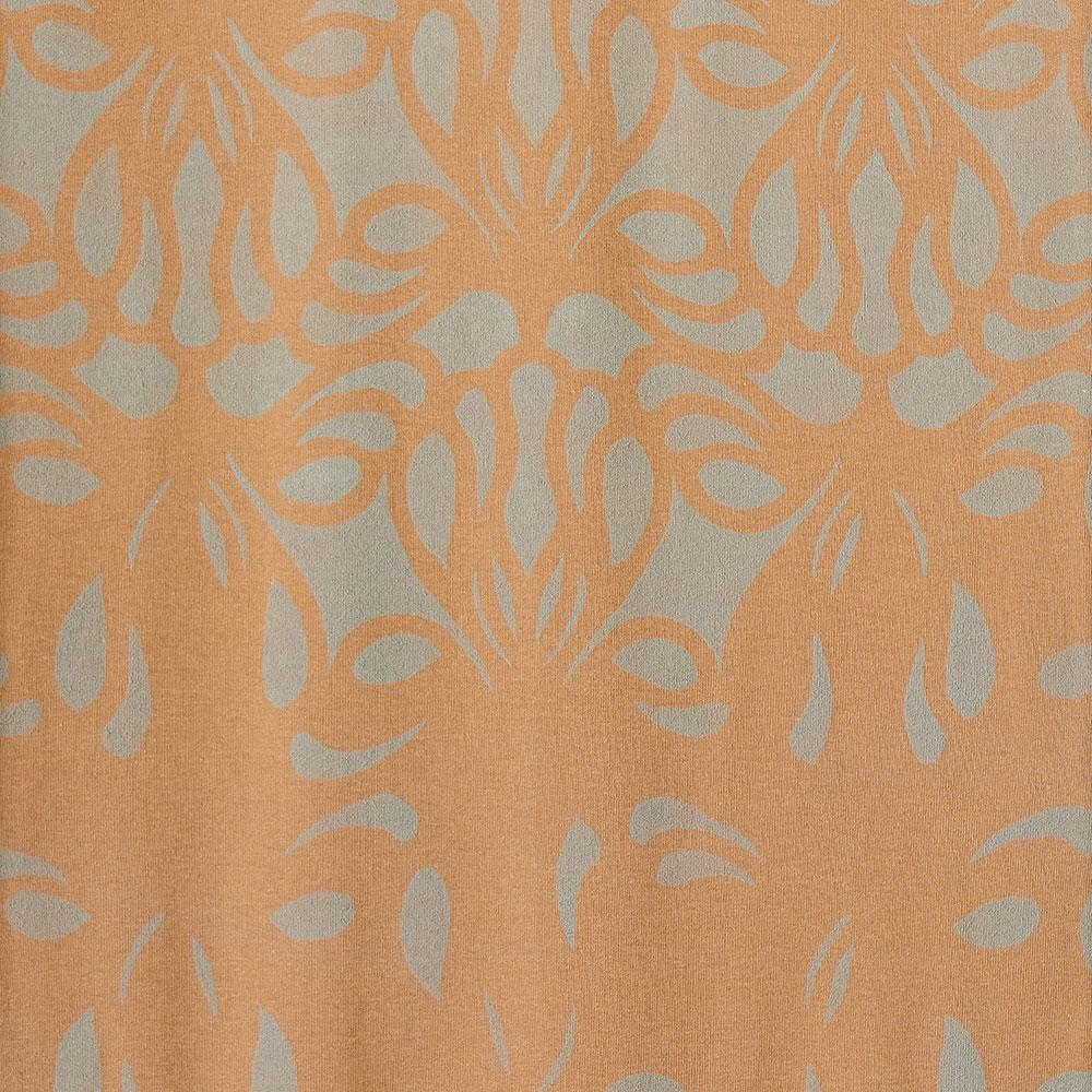 Alabama Chanin 100% Organic Cotton in Camel with Hand-Painted Lace Pattern