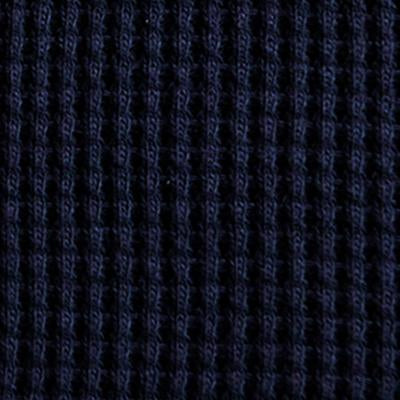 100% Organic Cotton Waffle in Navy