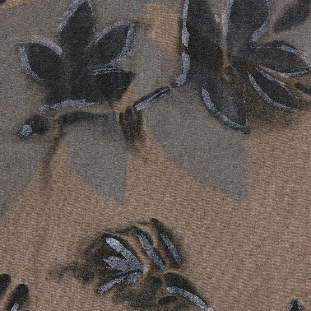 Alabama Chanin 100% Organic Cotton in Concrete with Hand-Painted Florence Print