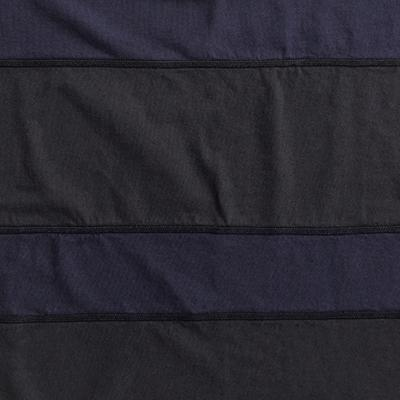 Organic Cotton Jersey Napkins in Black stripes