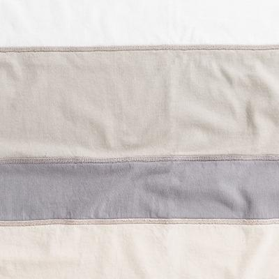 Organic Cotton Jersey Napkins in Natural stripes