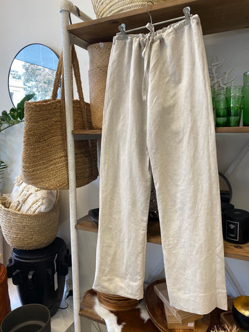 Lounge Pants Natural Linen