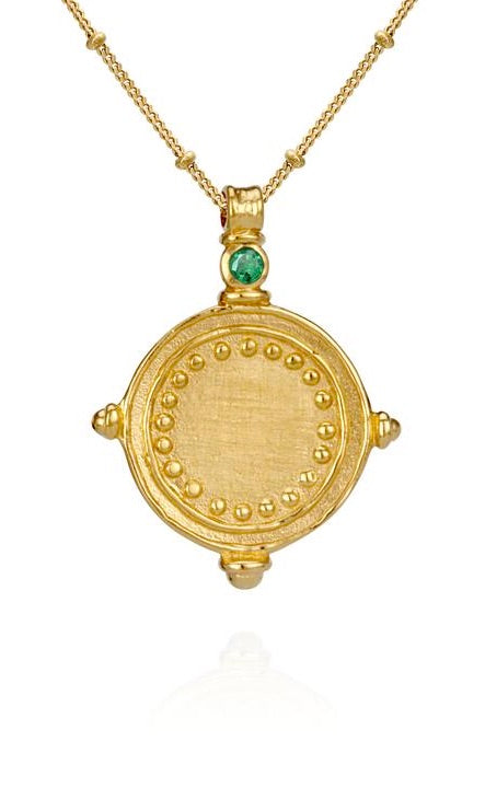 Sura Necklace Emerald Gold