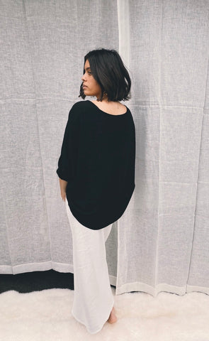 Full Moon Top Black Textured