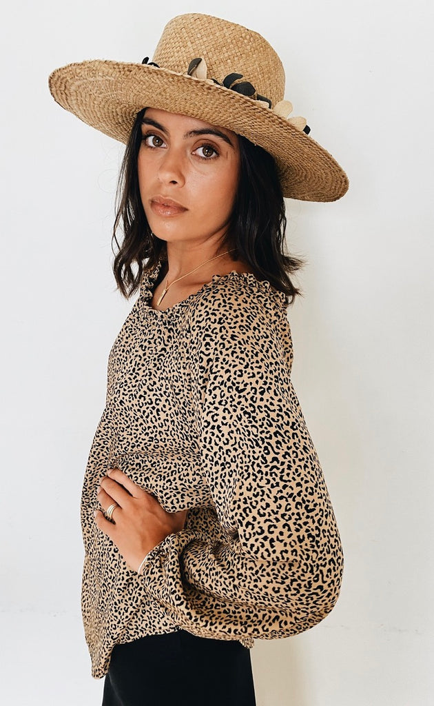 Sunset Top Leopard