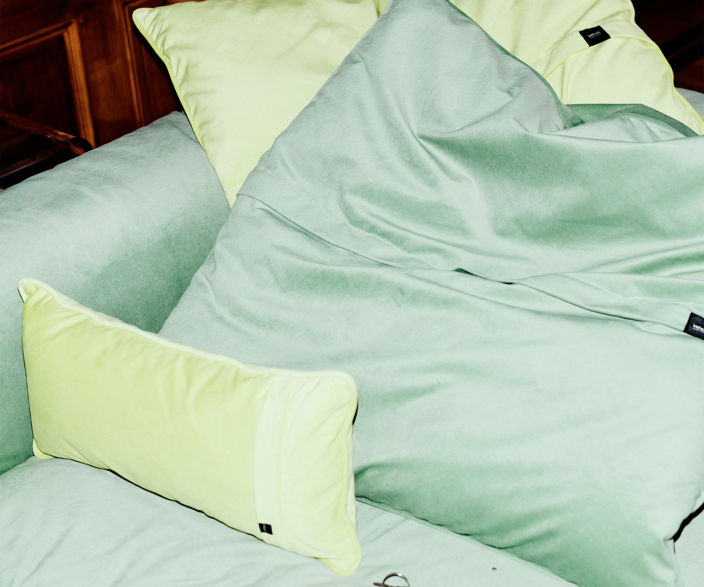 Jumbo Pillow Velvet mint