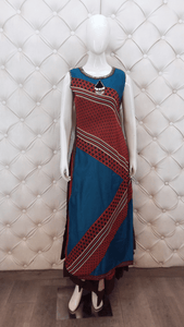 Cotton Inner Stitched Georgette Printed With Neck Piece