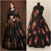 Load image into Gallery viewer, Printed Organza Skirt With Stitched Blouse - Kanchan Fashion Pvt Ltd