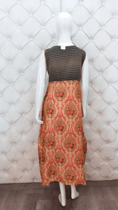 Long Printed Kurti With Heavy Neck Latkan - Kanchan Fashion Pvt Ltd