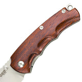 "GEO KNIFE GEO903 Folding Knife, 3.1"" D2 Steel Blade & Wood/G10 Handle - Liner Lock"