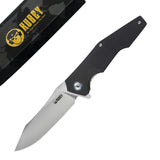 "KUBEY KNIFE KU161 Folding Knife, 3.3"" D2 Blade & G10 Handle - Liner Lock"