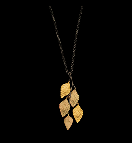 Silver Seasons by Michael Michaud - Autumn Birch Pendant