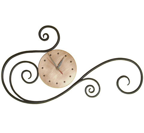 Blackthorne Forge - Scroll Wall Clock