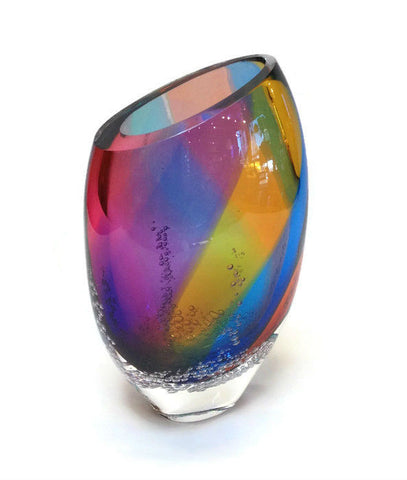 Blodgett Glass - Sea Foam Flat Vase in Aurora
