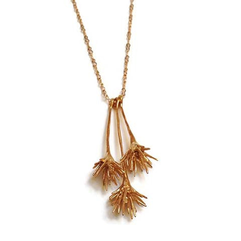 Chee-Me-No Jewelry - Thistle Drop Necklace in Gold