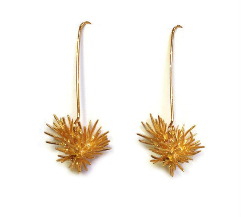 Chee-Me-No Jewelry - Thistle Burst Earrings in Gold