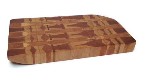 End Grain Cherry Wood Cutting Board
