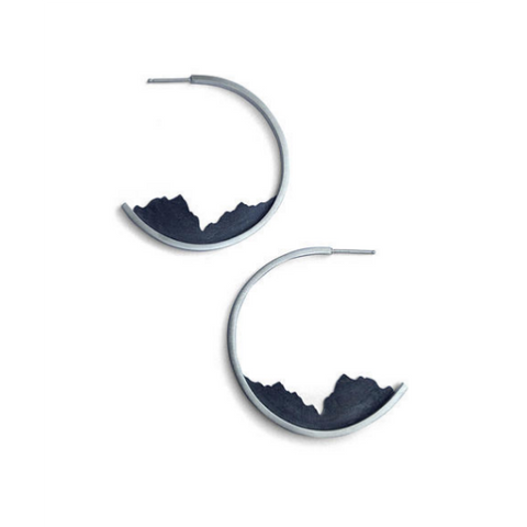Ella Calas Jewelry - Landscape Hoop Earrings
