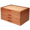 Mike Fisher - Heartwood Creations - Grand Cascade - Cherry & Quilted Maple Jewelry Box