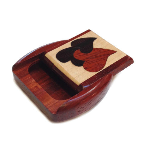 Mike Fisher - Heartwood Creations - Secret Box - Hearts Inlay