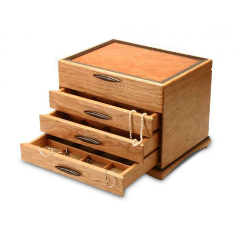 Mike Fisher - Heartwood Creations - 3 Drawer Teton Jewelry Box