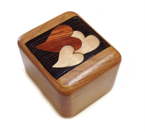 Mike Fisher - Heartwood Creations - Secret Boxes - Hearts Inlay