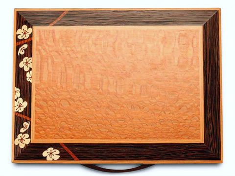 Mike Fisher - Heartwood Creations - Cherry Blossom Grand Three Drawer Jewelry Box