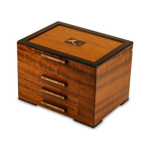 Mike Fisher - Heartwood Creations - Ginkgo Three Drawer Jewelry Box