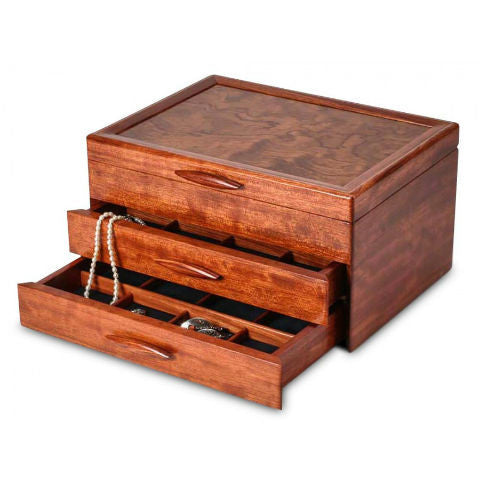 Mike Fisher - Heartwood Creations - Prairie II Collection 2 drawer Jewelry Box