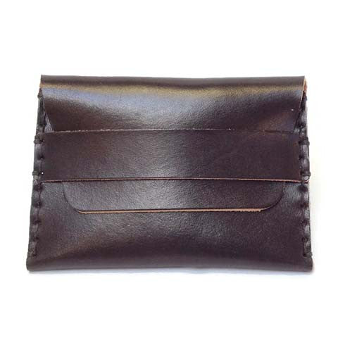 Hide and Tallow - Fold Over Wallet in Dark Brown