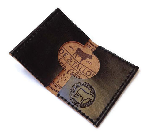 Hide and Tallow - Bifold Wallet in Wine