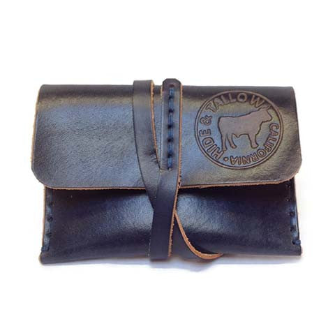 Hide and Tallow - Leather Wrap Wallet in Cobalt