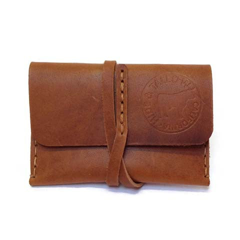 Hide and Tallow - Leather Wrap Wallet in Saddle