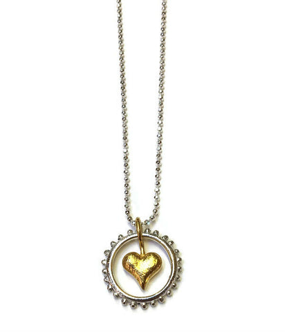 Joanna Lovett Jewelry - Gold Heart to Heart Necklace