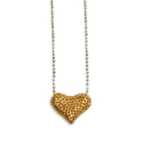 Joanna Lovett Jewelry - Floating Heart Necklace in Gold