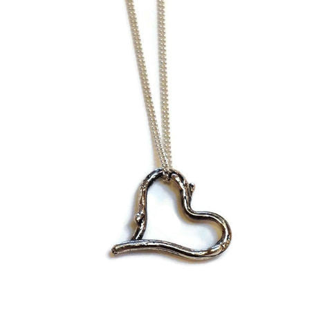 Joanna Lovett Jewelry - Petite Sticks Heart Pendant