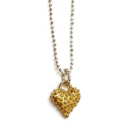 Joanna Lovett Jewelry - Petite Heart Necklace in Gold