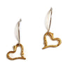 Joanna Lovett Jewelry - Stick Heart Earrings in Gold