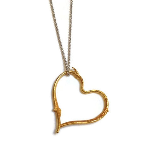 Joanna Lovett Jewelry - Sticks Heart Pendant in Gold