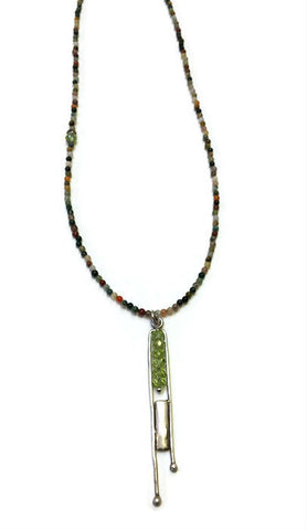 Julia Britell Jewelry - Peridot Pendant on Jasper